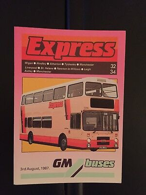 Route 100 Gm Buses Manchester Bus Timetable Jul 1988 163 2