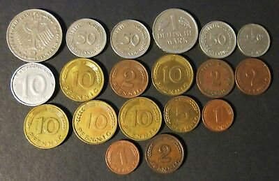 Germany Lot Of 19 Coins.