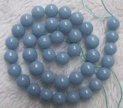 4mm 6mm 8mm 10mm 12mm 14mm Blue Angelite Round Loose Beads 15.5""