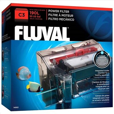 Fluval C3 Hang On Power Filter Clip On Aquarium up to 190l