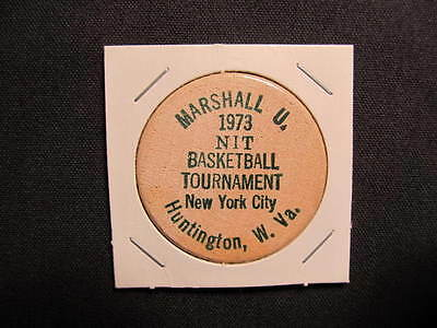 Huntington, West Virginia Wooden Nickel token - Marshall University 73 Wood Coin