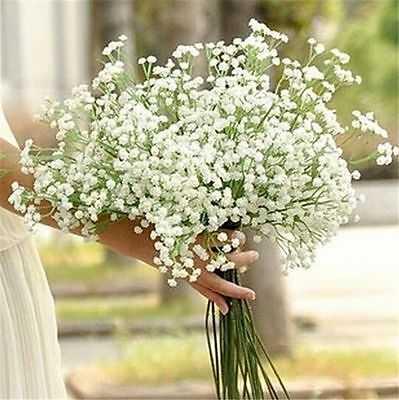 1 Head Romantic Baby's Breath Gypsophila Silk Flower Party Wedding Home Décor @