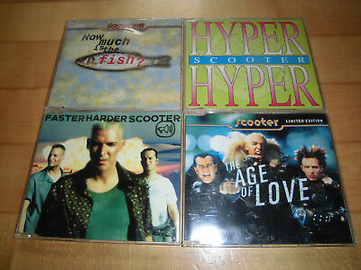 Scooter - Fish/Hyper Hyper/Faster Harder/The Age Of Love - 4 Maxi-CDs