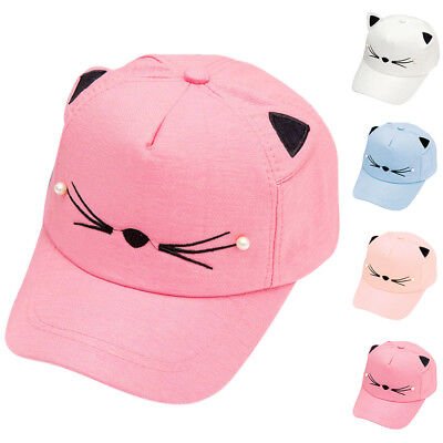 Baby Toddler Kids Peaked Baseball Cap Summer Sun Hat Boys Girls Cotton Cat Hat