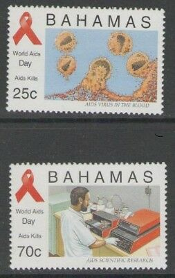Bahamas Sg1056/7 1995 World Aids Day   Mnh