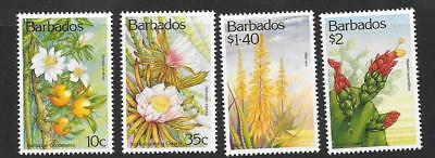 Barbados Sg987/90 1993 Cacti And Succulents  Mnh