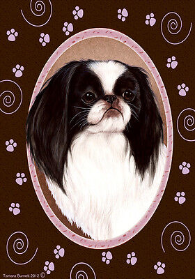 Garden Indoor/Outdoor Paws Flag - Japanese Chin 171331
