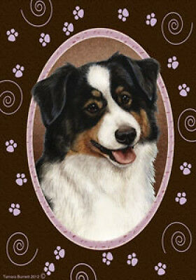 Garden Indoor/Outdoor Paws Flag - Tri Australian Shepherd 173531