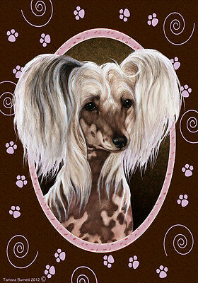 Garden Indoor/Outdoor Paws Flag - Chinese Crested 170691