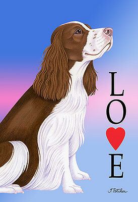 Large Indoor/Outdoor Love (TP) Flag - English Springer Spaniel 60031