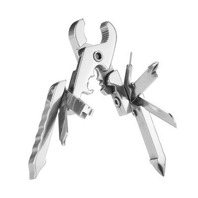 Outdoor Camping Survival  Multi Tool Folding Plier Travel Gadget Keychain Wrench