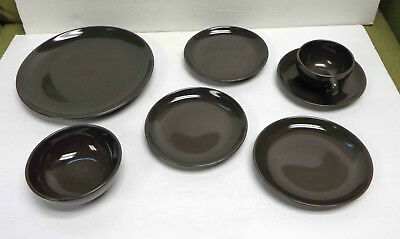 Vintage Russel Wright Iroquois Casual China Charcoal Plates Cup Saucer Bowl LOT!