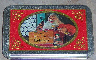 Limited Edition Coca-Cola 2 Decks of Nostalgia Playing Cards in Santa Tin New