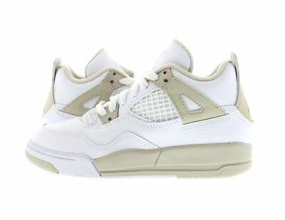 bc9819c00984 KIDS (PS) AIR Jordan 4 Retro White Light Sand 487725-118 -  40.00 ...
