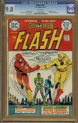 Flash #225 CGC 9.8 White Pages Reverse Flash, Green Lantern