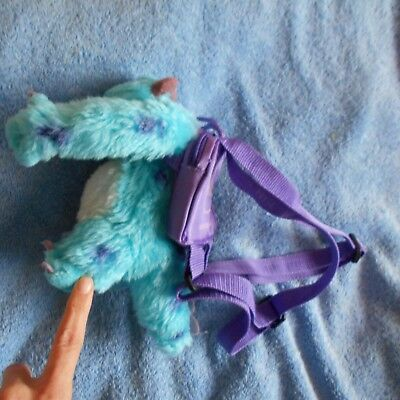 soft plush sulley sully backpack bag cuddly teddy toy Monsters inc figure
