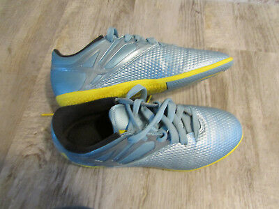 957c7a6d0 Adidas Indoor Soccer Shoes Boys Girls Kids Youth 5.5 Blue Yellow Free Ship