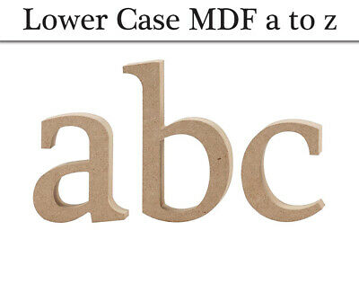 Lowercase MDF Wooden Letter Shapes to Decorate - 8.2-15.5cm