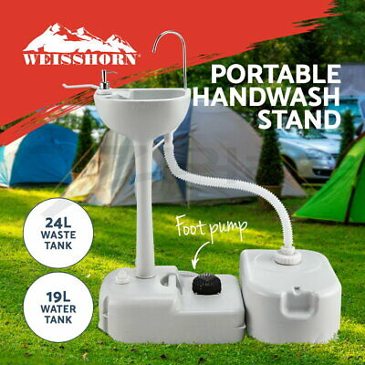 Camping Portable Sink Wash Basin Water Stand Food Event Building 43L Capacity