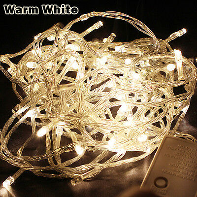 WarmWhite 20M 200LED Christmas Light Wedding Party Holiday String Fairy Lights