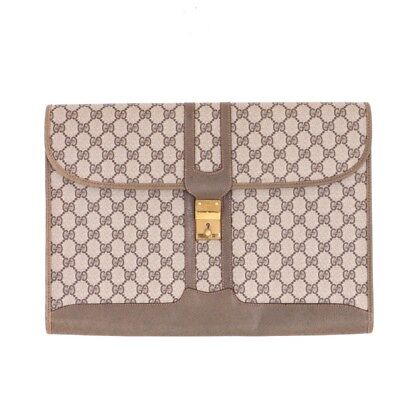 de325d2631e Vintage Gucci XL Jumbo Monogram Excellent Laptop Case Clutch Bag.NFV4656