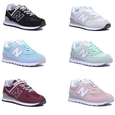 New Balance WL574ER Donna Lifestyle Sneakers Maglia in pelle scamosciata