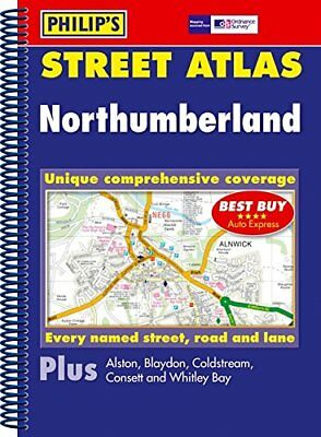 Philip's Street Atlas Northumberland: Spiral Edition by VARIOUS Spiral bound The