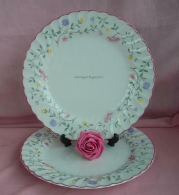 A Pair Of 9.75\  Summer Chintz Dinner Plates By Johnson Brothers & A PAIR OF 9.75\