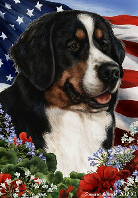Large Indoor/Outdoor Patriotic I Flag - Bernese Mountain Dog 16051