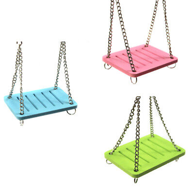 Cute Parrot Hamster Small Swing Hanging Bed Shake Suspension House Pet Toy UK