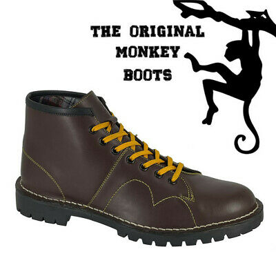Grafters The Original Monkey Boots Mens Womens & Kids Retro 60's Burgundy Shoes