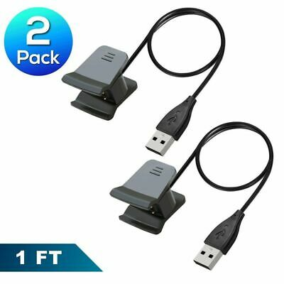 Insten 2 Pack Replacement USB Charger Charging Cable Cord 1Ft For Fitbit Alta HR