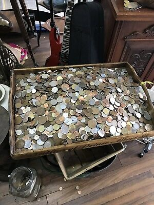 Mixed Antique And  Modern Coins From Around The World 1.5 Kilo coins 🌟🌟🌟🌟