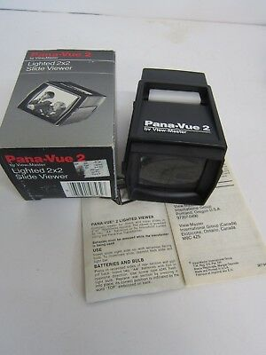 Pana-Vue 2 View-Master Lighted 2X2 Slide Viewer with box and instructions works