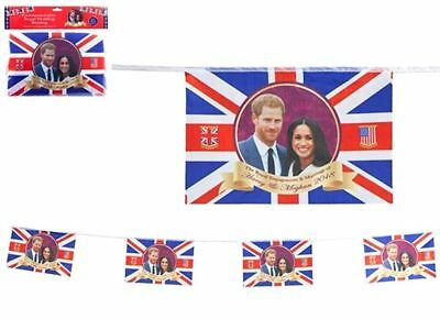 Harry Meghan Royal Wedding Decorations Bunting Union Jack Party 20FT 10 Flags