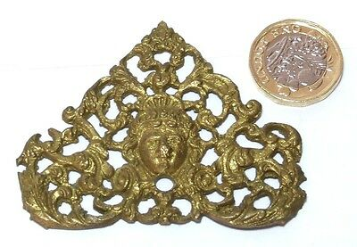 Decorative Solid Brass Georgian Gilt Finish Spandrel Furniture Clock Etc