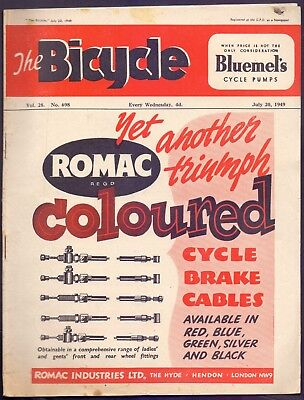 Vintage 36 page The Bicycle,Vol 28 No 698 1949  (YT1)