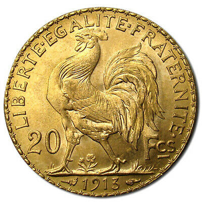 20 Francs France Gold Coin - Rooster (BU)