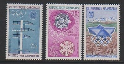 Gabon - 1967, Publicity for Olympic Games, Mexico 1968 set - MNH - SG 285/7
