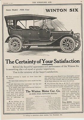 The Horseless Age November 1 1911 Original full page ad Winton Motor Car