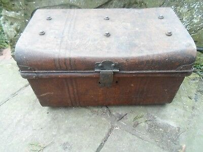 Tatty Old Metal Tin Trunk + Handles - Prop -  Display - Military Theme - Pirate