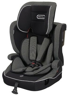 NEW Little Tikes Circuit Group 1-2-3 Universal Car Seat 9-36kg - Black & Grey