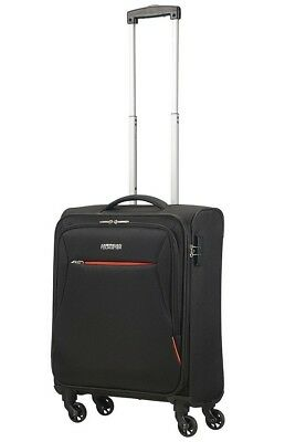NEW American Tourister Rally Cabin 4 Wheel Suitcase H55cm - Black