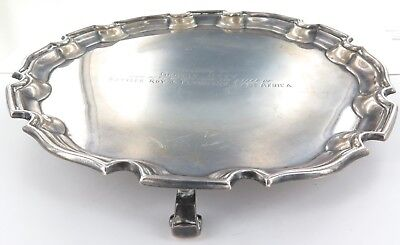 """.1958 """"East Africa"""" English Hallmarked Sterling Silver Presentation Tray."""