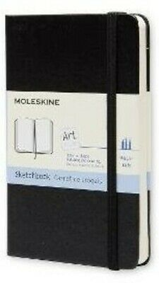 Moleskine Art Plus Sketchbook, Pocket, Plain, Black, Hard Cover (3.5 x 5.5) [New