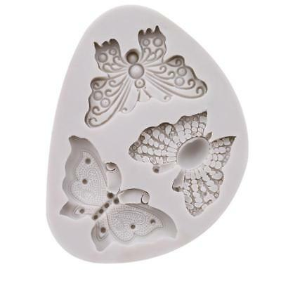 Butterfly Shape Silicone Fondant Cake Mold Decorating Chocolate Bakeware Mould C