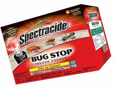 Spectracide Bug Stop Indoor Fogger5 (HG-67759) (6 - 2 oz) Case Pack of 1 New