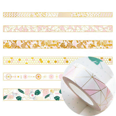 Pink Foil Paper Washi Tape Kawaii Stationery Scrapbooking Decorative Tapes DIY