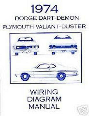 1974 dodge dart demon plymouth valiant duster wiring diagram manual rh picclick com 1974 dodge charger wiring harness 1974 dodge charger wiring diagram
