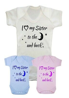 I love my Big Brother to the moon /& back Babygrow Baby Grow Top Baby Shower Gift